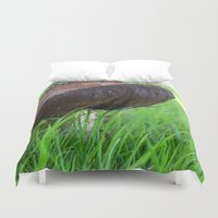 mushroom Duvet Covers featuring Mushroom by The Wellington Boot