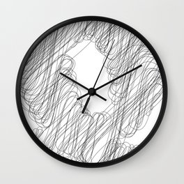 """"""" Cloud Collection """" - Minimal Letter Q Print Wall Clock"""
