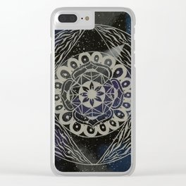Spacey Dreams Clear iPhone Case