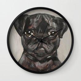 Art for Dog Lovers / Nursery Decor - Puggle Pup Wall Clock