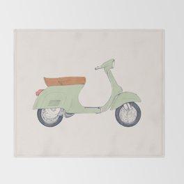 Italian Moto Throw Blanket