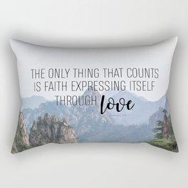 Galatians 5:6 Rectangular Pillow