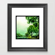 A rainy day in Orange County. Framed Art Print