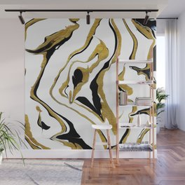 Gold And Black Opulence Wall Mural