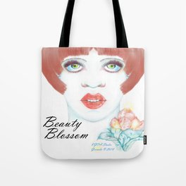 Beauty Blossom Mother's Day Portrait Tote Bag