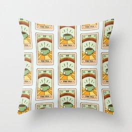 That's the TEA, sis tarot card Throw Pillow