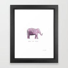 better with stripes Framed Art Print