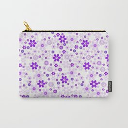 Soft Purple White Pattern Vecto Carry-All Pouch