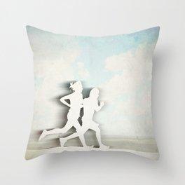 Runners Throw Pillow