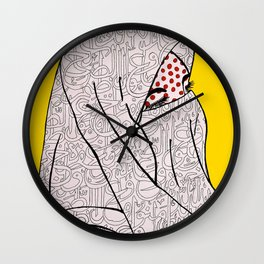 Roy Lichtenstein Meets the Arabic Woman Wall Clock