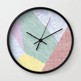 Chalk Patterns Wall Clock