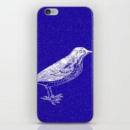 Blue Bird in the Snow iPhone Skin