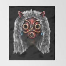 The Wolf Princess Throw Blanket