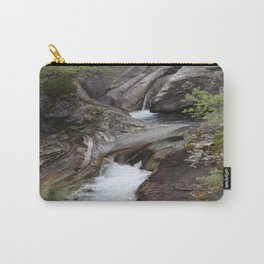 Norwegian waterfall photo, landscape photos, pothole, Instant download, Fine art gifts  Carry-All Pouch