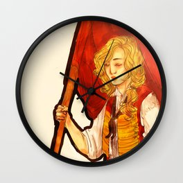 Orestes chilling with a flag Wall Clock
