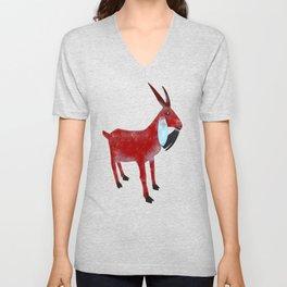 Mountain Goat Design Unisex V-Neck