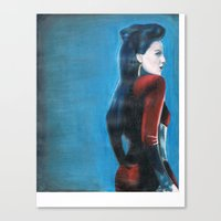 ouat Canvas Prints featuring ouat evil queen by laurensarts