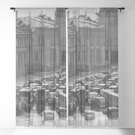 The Great New England Hurricane of 1938 - Providence, Rhode Island Sheer Curtain
