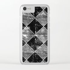 Chequers I Black Clear iPhone Case