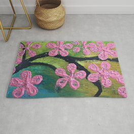 Cherry Blossom Painting Rug