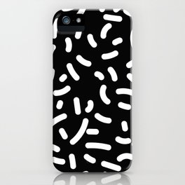 Memphis Candy W&B iPhone Case