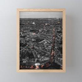 Paris City Lights Framed Mini Art Print