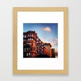 Boston Brownstones in Back Bay Framed Art Print