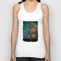 karu kara Tank Tops featuring Celestial Phenomenon by Klara Acel