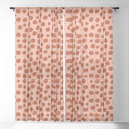 Irregular Small Polka Dots terracota Sheer Curtain