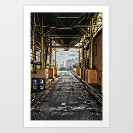 kolkhoz loading area Art Print