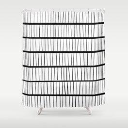 line pattern Shower Curtain