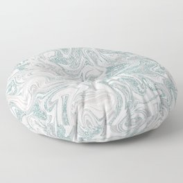 Glamorous Marble Teal and Smoke Pink Floor Pillow