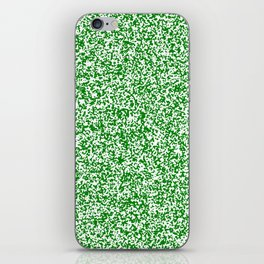 Tiny Spots - White and Green iPhone Skin