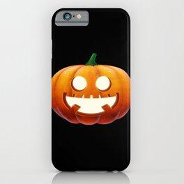 Pumpkin Face Pumpkin Halloween Laugh iPhone Case