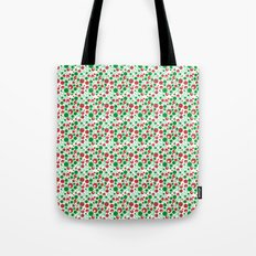 Circle Pattern Holiday Red Green and White Tote Bag
