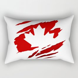 Canadian Red Flag Pride Rectangular Pillow