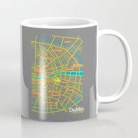 dublin Mugs featuring Dublin by mattholleydesign