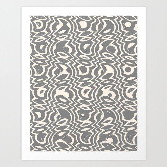 Gray & Ivory Tumble Art Print