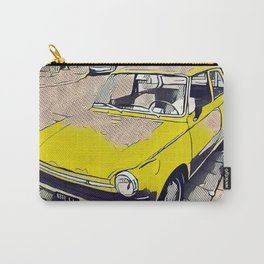 Old yellow vintage daf car in Milano Carry-All Pouch