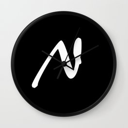 Alphabet ...N Wall Clock