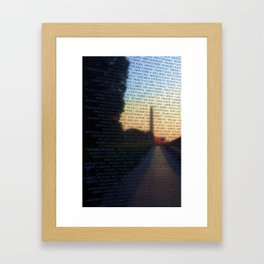 Vietnam Memorial Framed Art Print