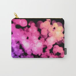 Lavender Pink Peach Bokeh Carry-All Pouch