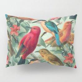 Birds in a summer garden Pillow Sham