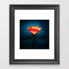 Man of Steel Suit Framed Art Print