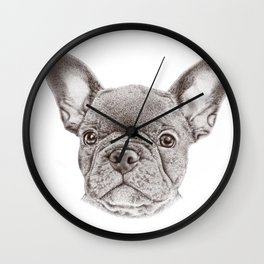 Drawing of french bulldog Wall Clock