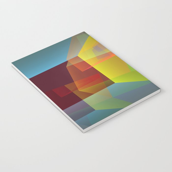 Modern colourful translucent cubism Notebook