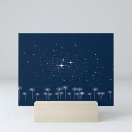 Dandelion Starry Night Sky Mini Art Print
