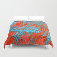 coral Duvet Covers featuring Coral  by haroulita