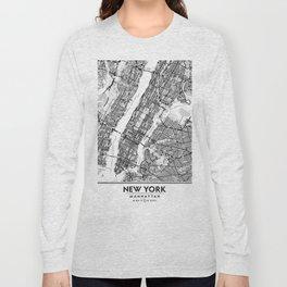 New York City Showing Manhattan, Brooklyn and New Jersey Long Sleeve T-shirt