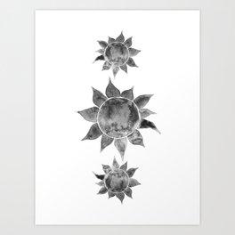 Grey sun Art Print